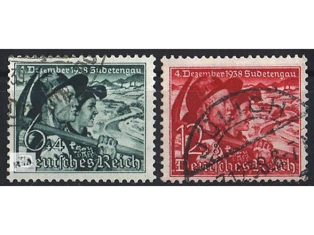 купить бу 1938 - Рейх - Голосование в Судетах Mi.684-85 в Ровно