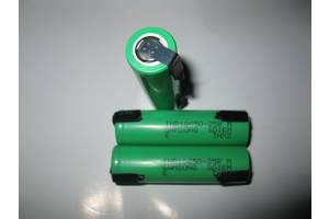 Акумулятори SAMSUNG INR18650-25RM (з нікелевими стрічками для пайки)
