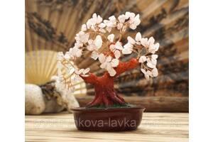 """9290022 Дерево """"Счастья"""" с камнями Розовый кварц"""