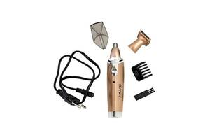Триммер для стрижки волос носа ушей бровей Gemei GM 3110 2в1 машинка для удаления волос на лице