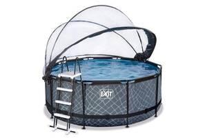 Бассейн с куполом EXIT камень 360х122 см (песочный фильтр)