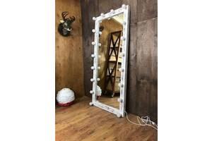 Дерев'яне дзеркало в стилі LOFT (180 см) (NS-970001067)