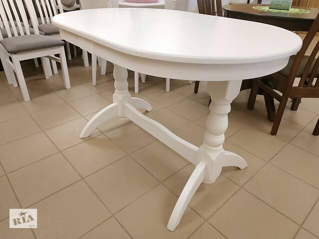 бу Деревяний стіл кухонний розкладний 120х80+40 овальний на кухню буковий в Львове