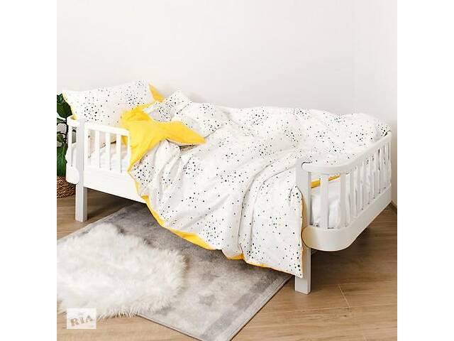 продам Детская полуторная сменная постель Twins Star хлопковая в кроватку, 4 элемента, желтая бу в Киеве