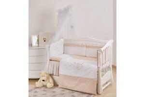 Детская постель на кроватку для новорожденных Twins Evolution I love 7 элементов А-038, белая
