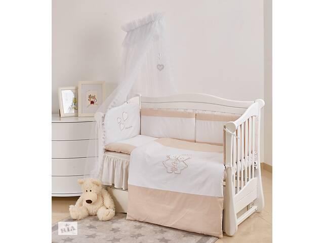 бу Детская постель на кроватку для новорожденных Twins Evolution I love 7 элементов А-038, белая в Киеве