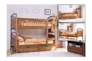 Двох'ярусне ліжко по акції з матрацами 6250 грн.