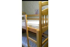 Двох'ярусне ліжко Іринка з ящиками і ортопедичними матрасами