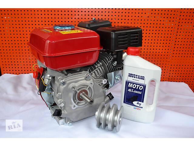 продам Двигатель бензиновый 168F 7 л.с вал 19 мм шпонка+шкив 3-х руч. проф Б + Масло 1л бу в Киеве