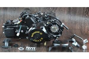 Двигатель на мопед Альфа Дельта 110 куб механика ( черный )