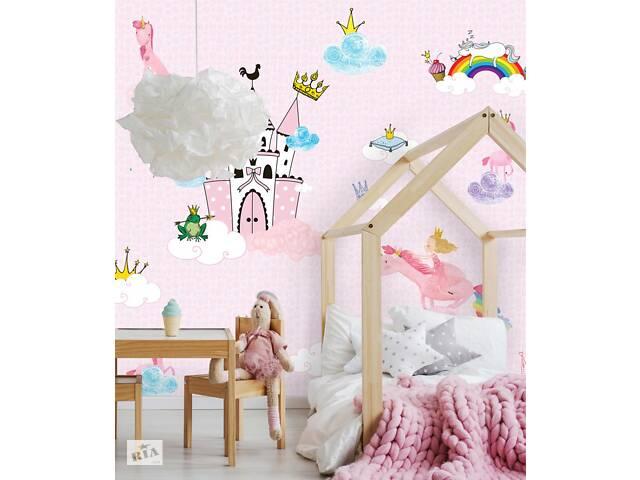 продам Флизелиновые обои девочкам в детскую с 3D Принцессы Princess Castle 306 см х 280 см бу в Киеве