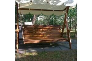 Качели садовые, Садовые качели из дерева, Подвесные садовые качели, Дачные качели Доставка по Украине ! Вопросы по тел
