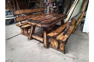 Комплект мебели для бани №7 ( для бани, под старину, стол и лавки )