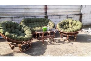 Комплект мебели Папасан CRUZO Софа, 2 кресла, столик Орех (d0420)