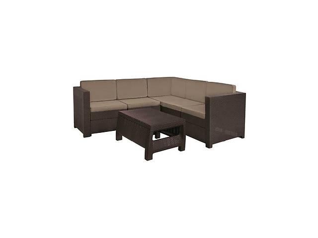 купить бу Комплект набор мебели для сада Keter Provence Set из искуственного ротанга и пластика (диван + стол) в Киеве