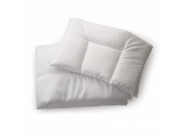 купить бу Комплект одеяло и подушка в детскую кроватку 120х90 Twins 100% хлопковое волокно, белый в Киеве