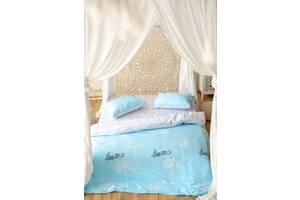 Комплект постельного белья Prestige Gold Love бело-голубой полуторный SKL29-250674