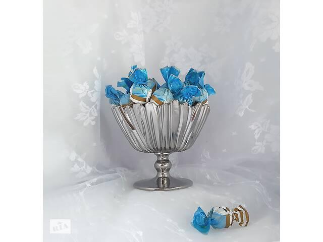 Конфетница Aurora Pasabahce 95833 ваза на ножке (цвет: ХРОМ) - объявление о продаже  в Запорожье