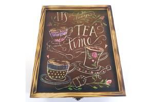 Коробка для чайных пакетиков Tea time 24х19,5х10,8 см Мастерская мистера Томаса Сосна Лак