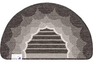 Коврик придверный Karat Flex 19162/80 50х80 см полукруглый серый-черный (6857)