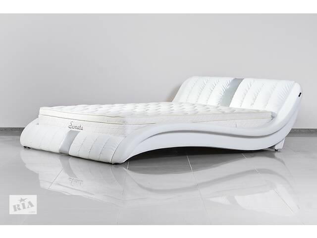 купить бу Кожаная двуспальная кровать Sonata Mobel B250 Белая в Одессе