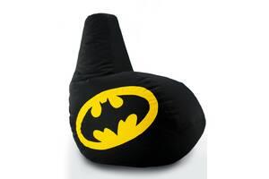 Кресло мешок груша Coolki Бэтмен Batman XXL 90x130 Black (Оксфорд 600D)