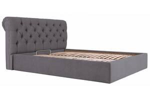 Кровать двуспальная Richman Лондон Vip 180 х 200 см Мисти Dark Grey С дополнительной металлической цельносварной рамо...