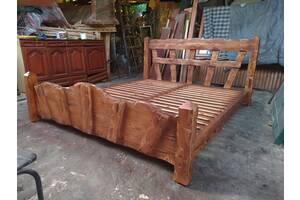 Ліжко з масиву сосни (дерев'яна під старовину, з дерева)