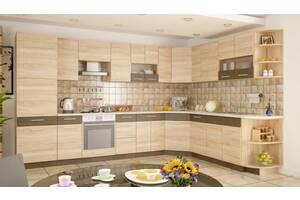 Кухня модульні Меблі-сервіс Грета 2.6 м без стільниць Дуб самоа