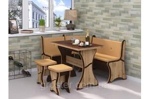 Кухонный уголок Султан с раскладным столом и табуретами
