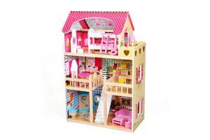 Кукольный домик AVKO Вилла Валетта LED подсветка + 2 куклы
