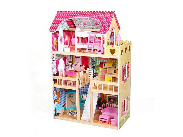 продам Кукольный домик AVKO Вилла Валетта LED подсветка + 2 куклы бу в Львове