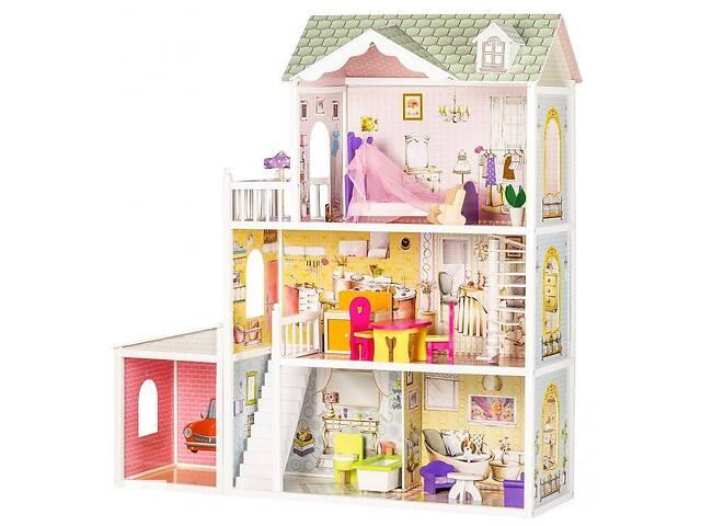 купить бу Кукольный домик игровой для Барби  Ecotoys 4108 Beverly гараж + кукла в Львове