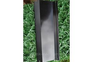 Ламели для забора Жалюзи металлический 112мм цвет 9005 черный глянец двухсторонний 0,45 Корея