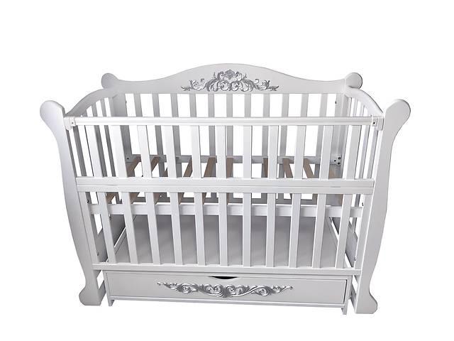 бу Кровать детская Baby Comfort Лотос с ящиком белый в Одессе