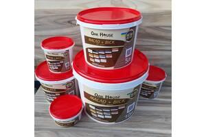 Льняное масло  с воском Oak House для деревяных изделий и конструкций, цвет Оливковый