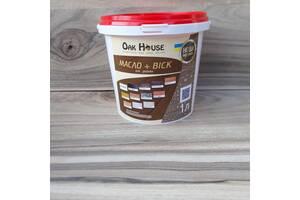 Льняное масло с воском Oak House предназначенно для обработки деревяных изделий прозрачный 1л