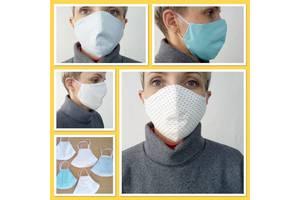 Маски для обличчя, захисні з тканини, багаторазові