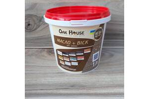 Масло-воск Oak House для долговечной обработки деревяных изделий внутри и снаружи помещений, цвет Дуб
