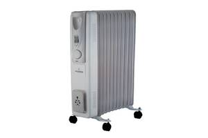 Масляный обогреватель Crownberg CB 11 радиатор на 11 секций 2500Вт с терморегулятором Белый (par_11)