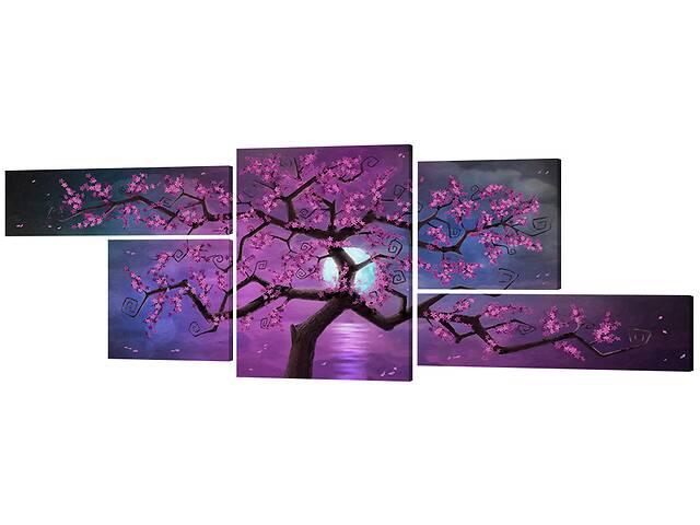 продам Модульная картина Декор Карпаты 376х99 Сакура (381) бу в Одессе