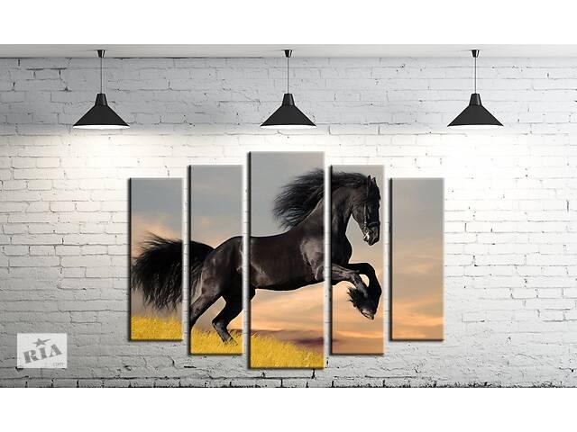 продам Модульная картина на холсте ProfART SM5-z223 120 х 80 см Лошадь (hub_QZUM52169) бу в Одесі