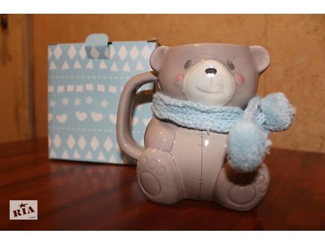 продам  Милая чашка-кружка в форме медвежонка  бу в Харькове
