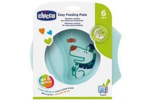 Набор детской посуды Chicco тарелка Easy Feeding Plate 6м+ Голубой (16001.20)