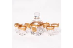 Набор для виски Butterfly Preface 970001 (графин 0,79 л. и 6 стаканов 0,25 л) золотистый