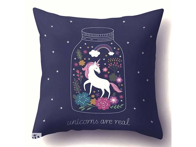Наволочка декоративна Unicorns are real 45 х 45 см Berni Home- объявление о продаже  в Киеве