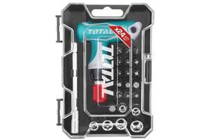 Отвертка с Т-подобной рукояткой и набором насадок TOTAL TACSD30186 24 шт (6325370)