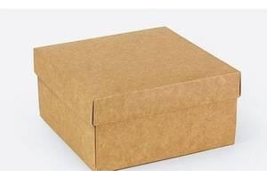 Подарункова коробка Крафт 14х14х7 см