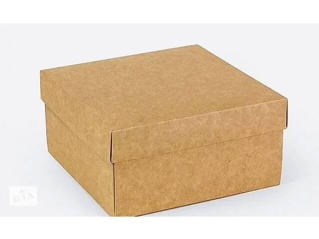 Подарочная коробка Крафт 14х14х7 см- объявление о продаже  в Киеве