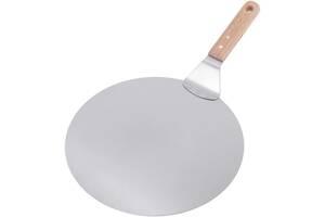 Подставка-лопатка Kamille лопатка для пиццы Ø30.5см из нержавеющей стали (psg_KM-8833)